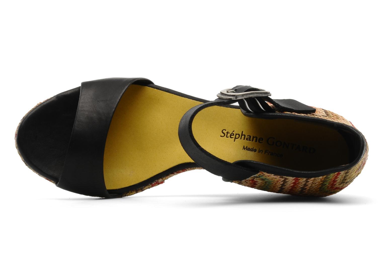 Sandales et nu-pieds Stéphane Gontard Funy Noir vue gauche