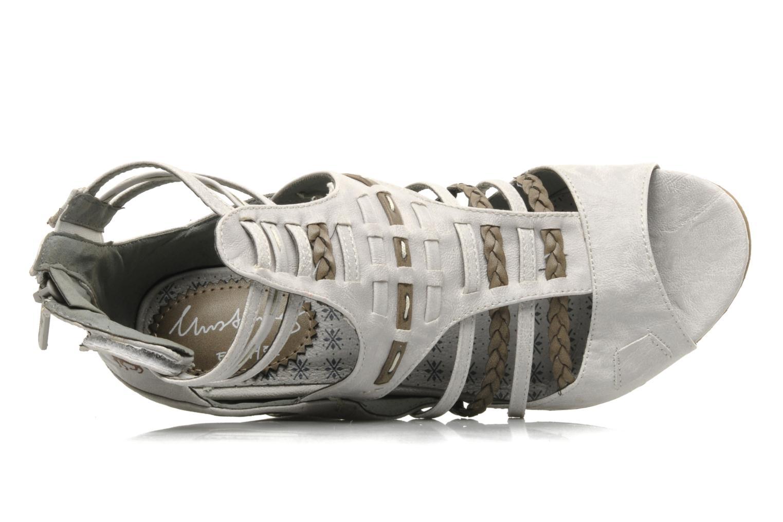 Sandali e scarpe aperte Mustang shoes Momine Bianco immagine sinistra