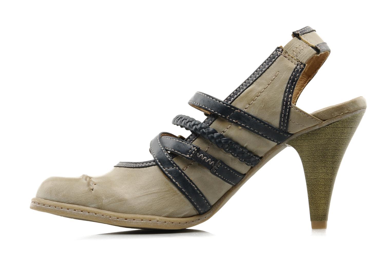 High heels Mustang shoes Myeline Beige front view