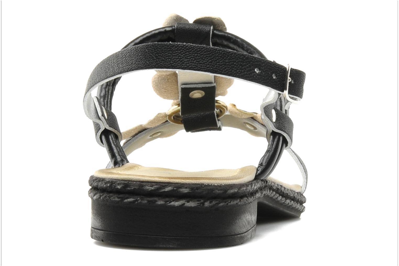 Sandalen Mustang shoes Maline schwarz ansicht von rechts