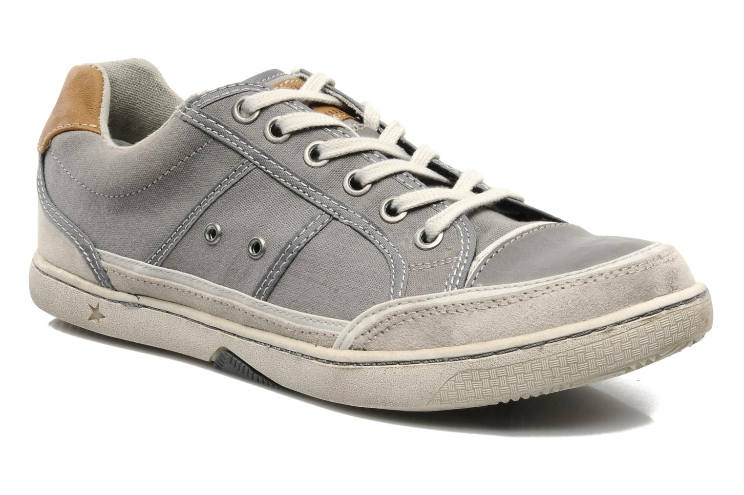 Baskets Mustang shoes Dolfine Gris vue détail/paire