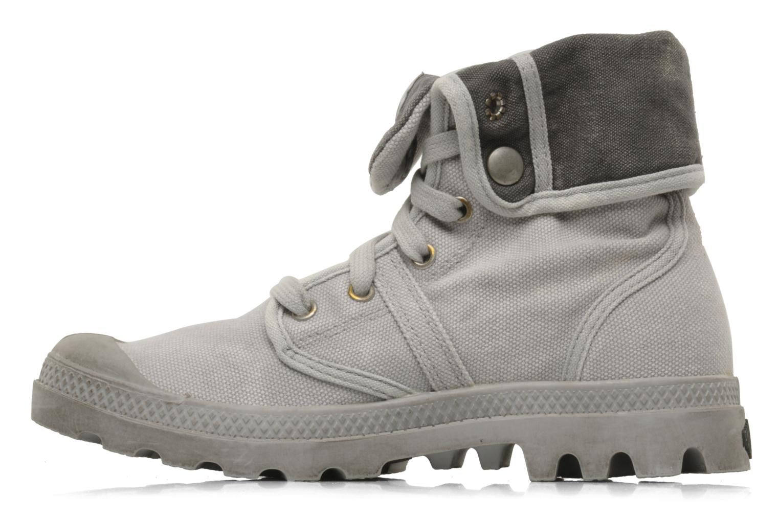 Trainers Palladium Us Baggy F Grey front view