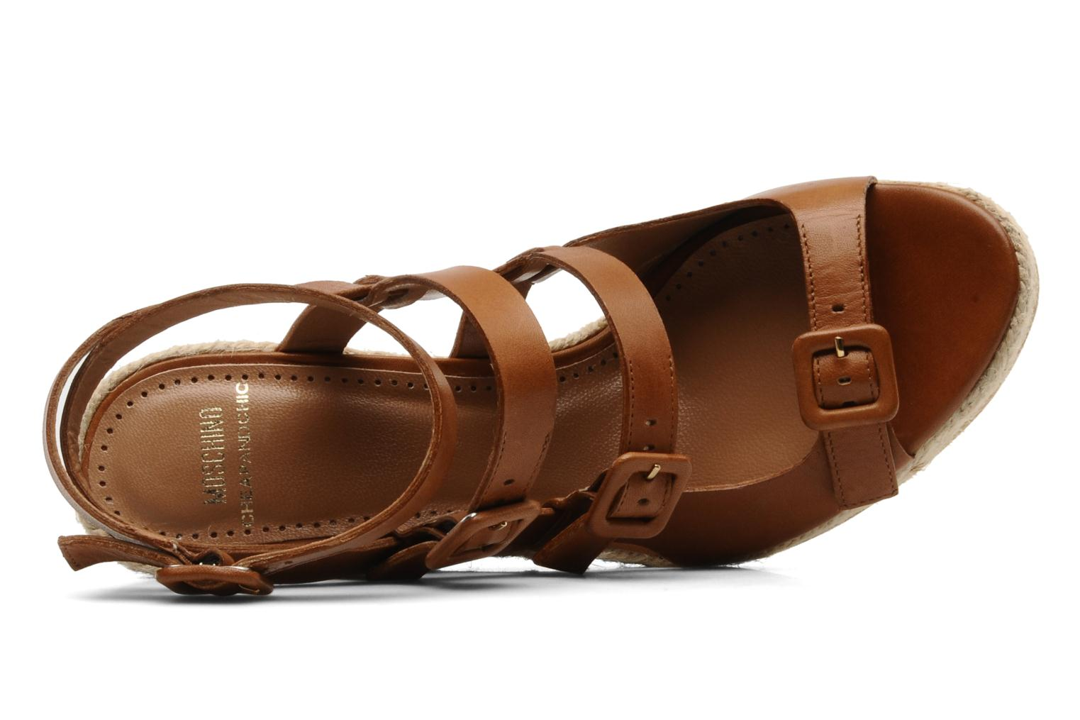 Sandals Moschino Cheap & Chic Cevil Brown view from the left