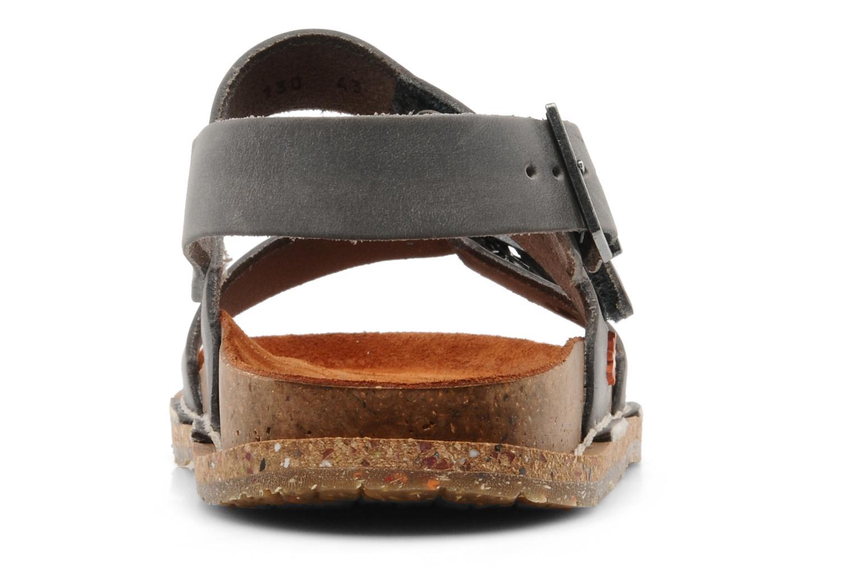 Sandales et nu-pieds Art Frankfurt 130 Gris vue droite