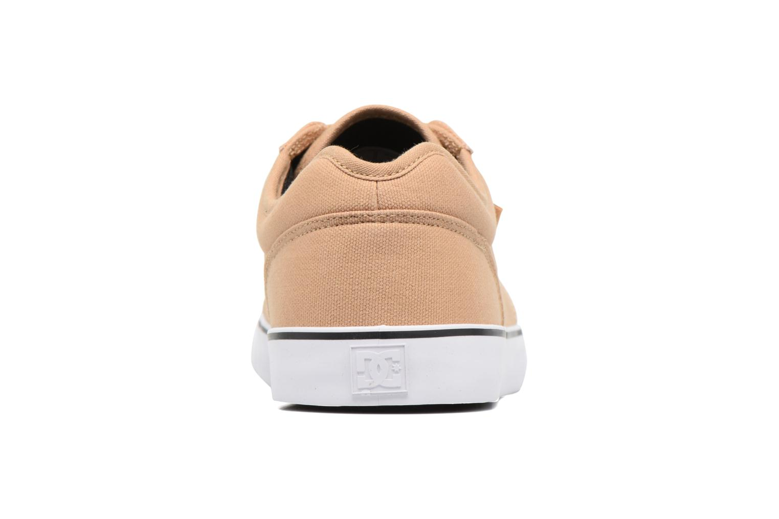 Deportivas DC Shoes Tonik TX Beige vista lateral derecha
