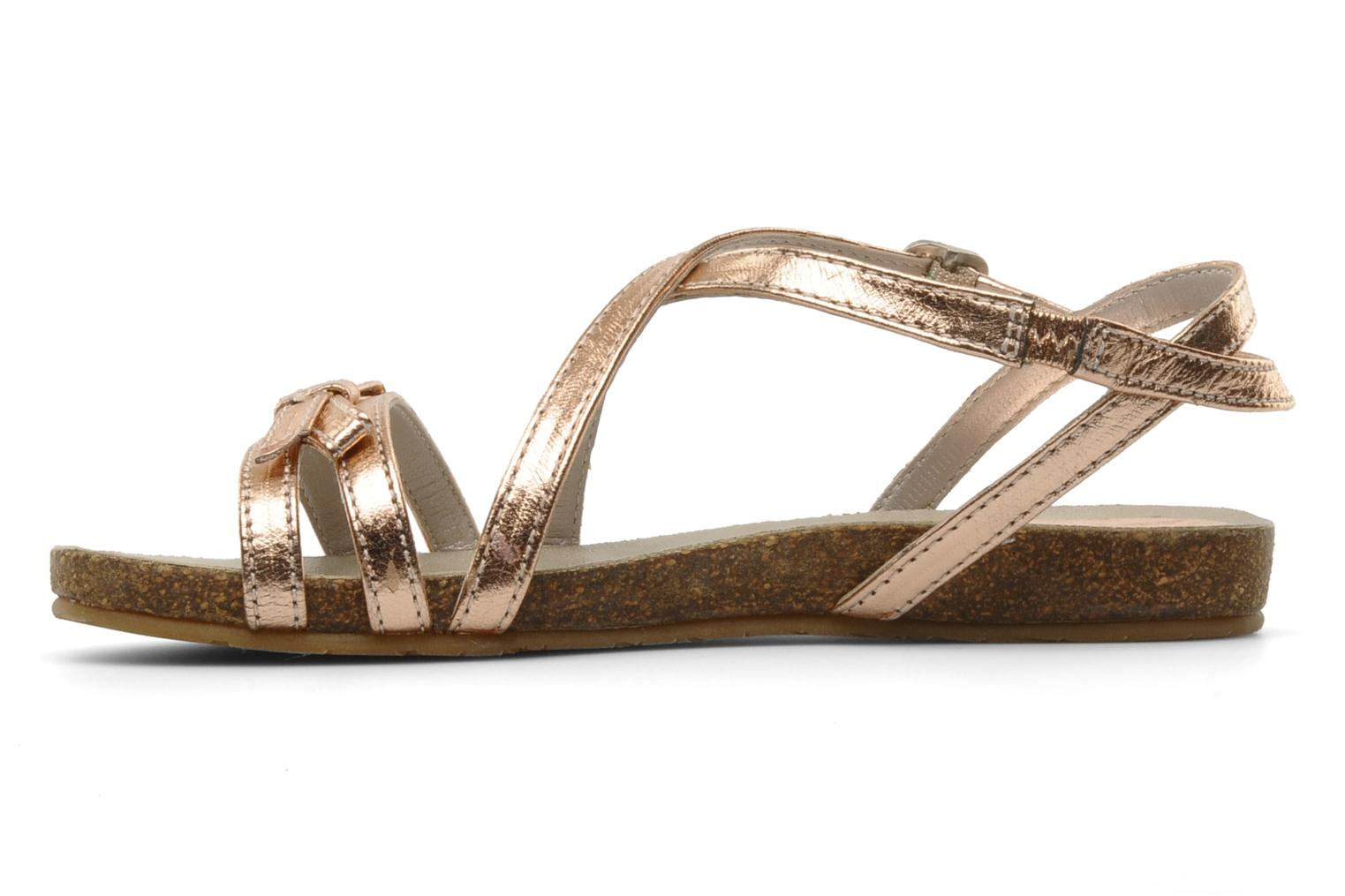 Sandals Unisa Matty Bronze and Gold front view