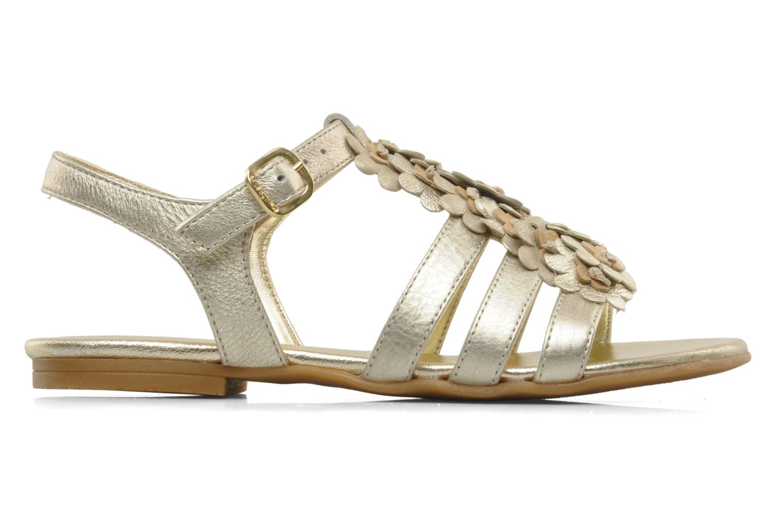 Sandals Unisa Lizzi Bronze and Gold back view