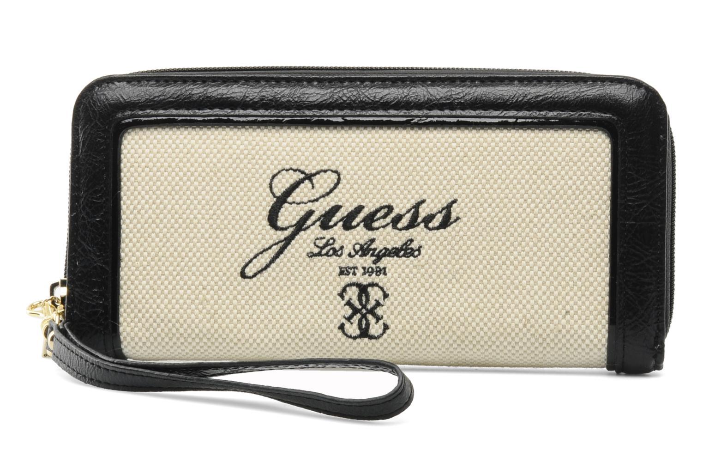 Portemonnaies & Clutches Guess Shanie Large ZipAround schwarz detaillierte ansicht/modell