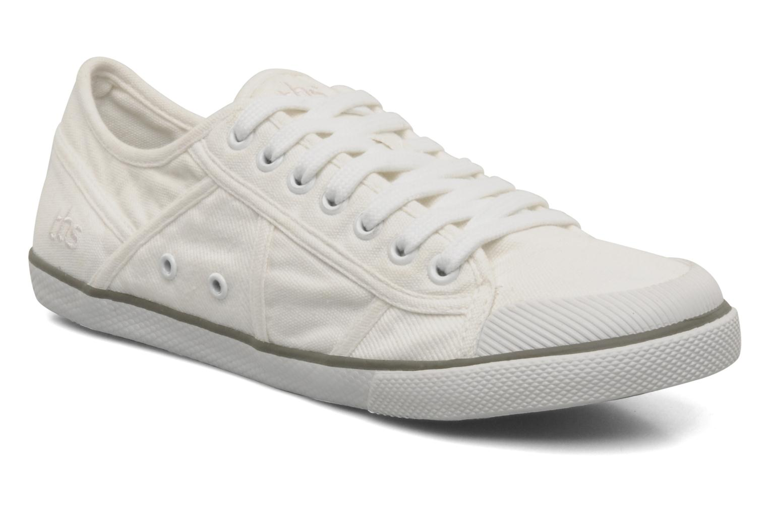 Baskets TBS Violay Blanc vue détail/paire