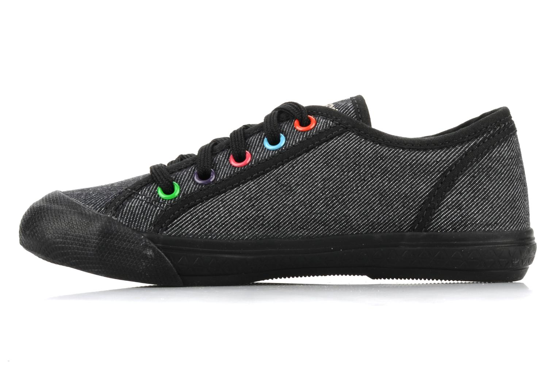 Sneakers Le Coq Sportif Deauville Plus Denim Rainbow Ps Nero immagine frontale