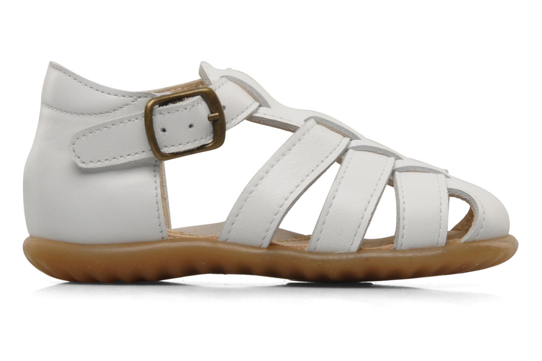 Sandales et nu-pieds PèPè Bongo Blanc vue derrière