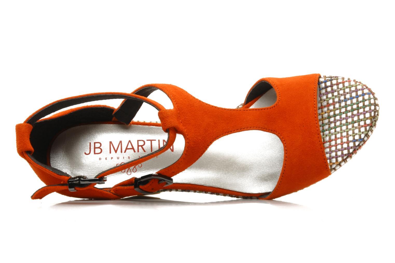 Sandalias JB MARTIN Nabou Naranja vista lateral izquierda