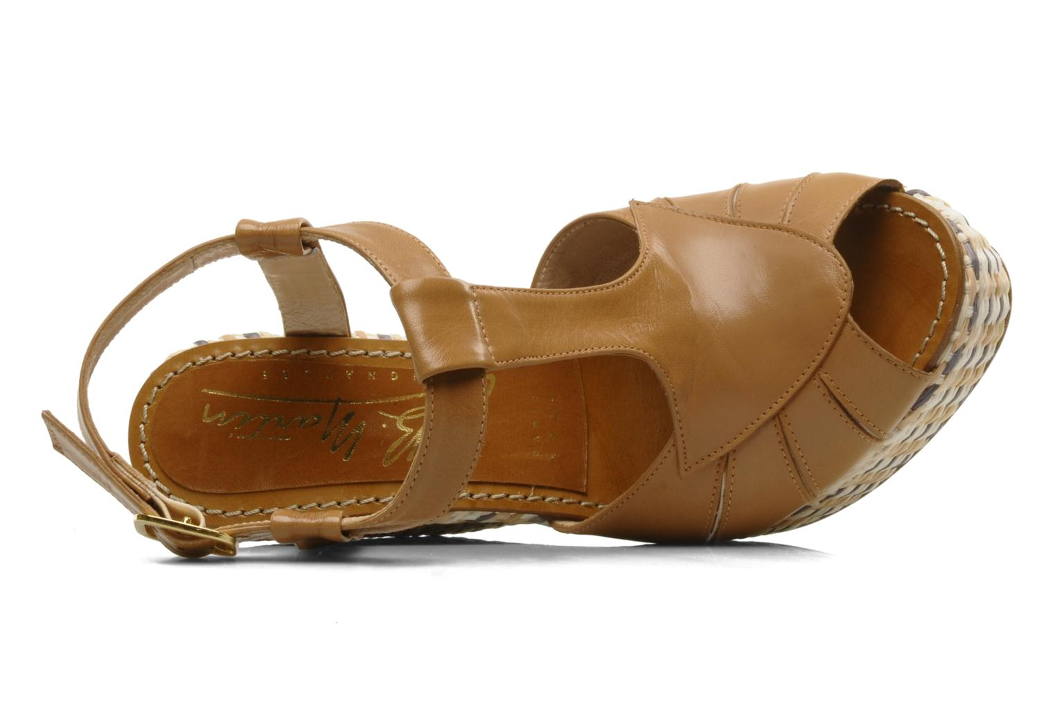Sandals JB MARTIN Inite Brown view from the left