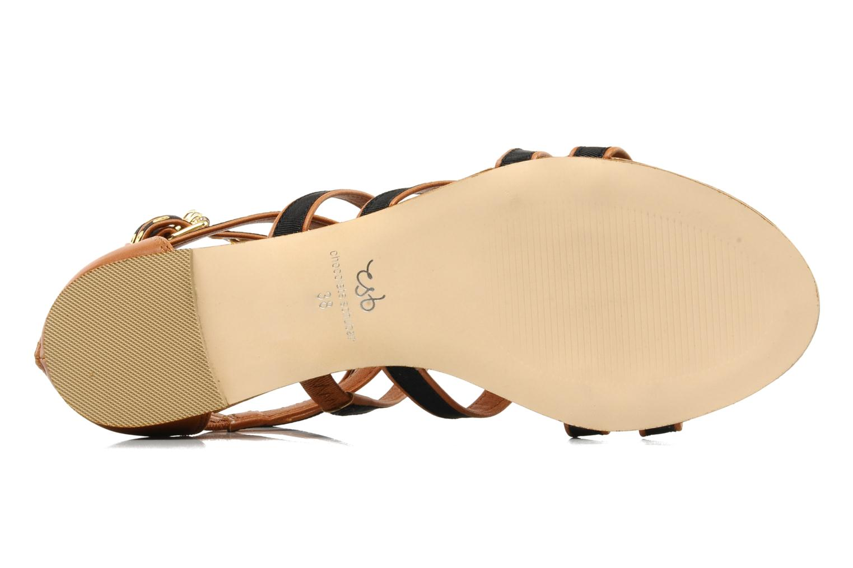 Sandalen Chocolate Schubar Andi schwarz ansicht von oben