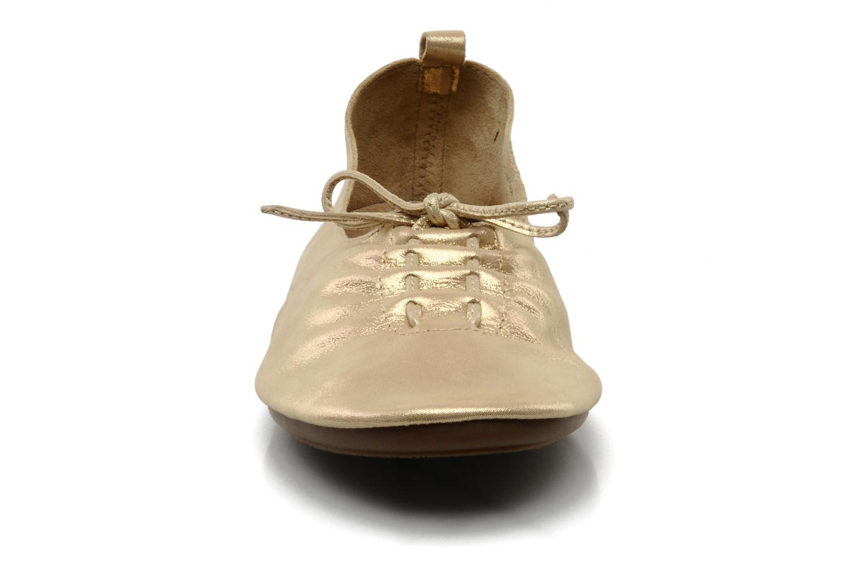 Ballet pumps Chocolate Schubar Daniel Bronze and Gold model view
