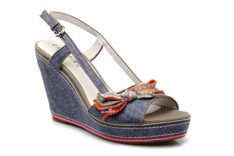 caf noir aura blauw sandalen chez sarenza 86469. Black Bedroom Furniture Sets. Home Design Ideas