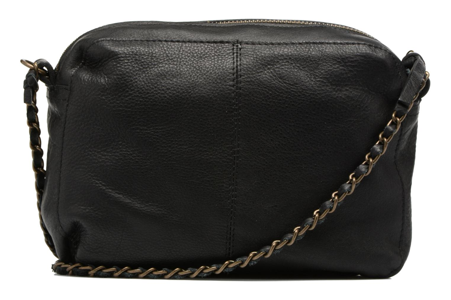 Handbags Pieces Naina Leather Crossover Black front view