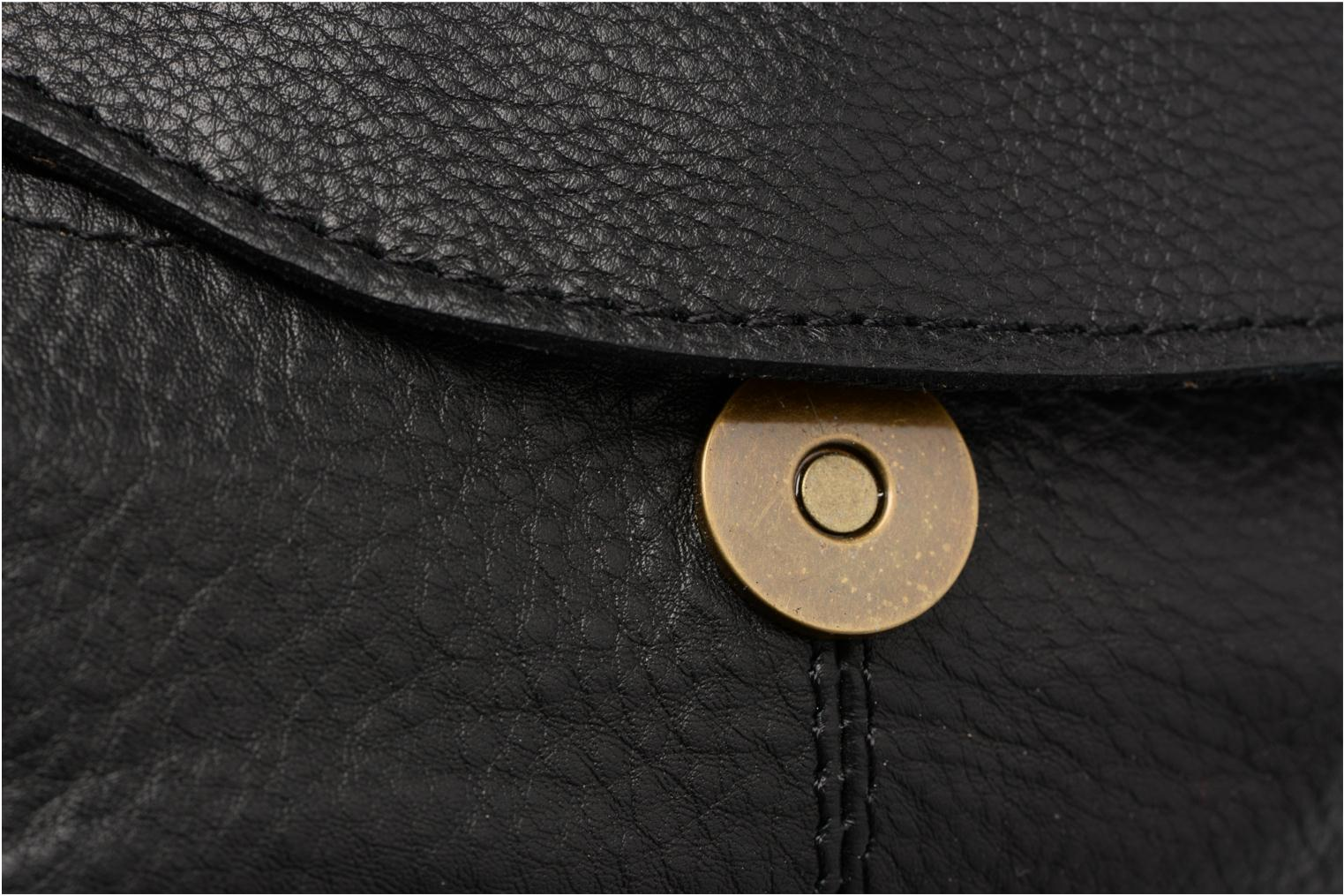 Handbags Pieces Naina Leather Crossover Black view from the left
