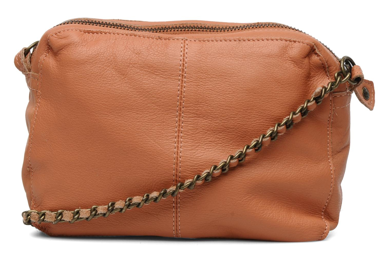 Sacs pochettes Pieces Naina Leather Crossover Orange vue face