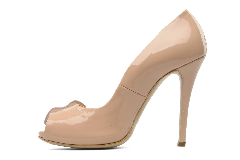 Zapatos de tacón Paul & Betty PrettyLips Beige vista de frente