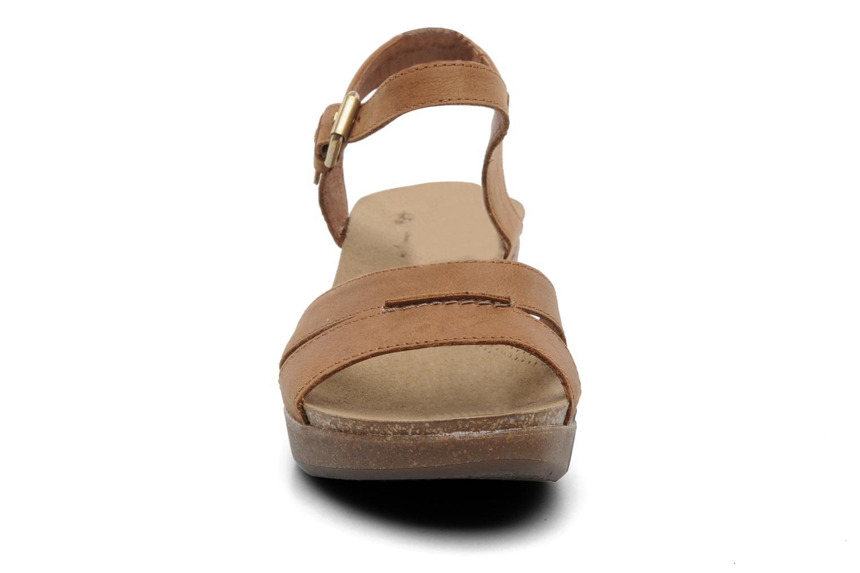 Sandales et nu-pieds Panama Jack Linda Marron vue portées chaussures
