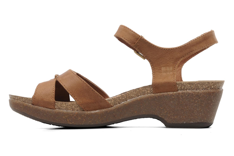 Sandales et nu-pieds Panama Jack Linda Marron vue face