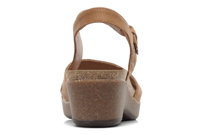 Sandales et nu-pieds Panama Jack Linda Marron vue droite