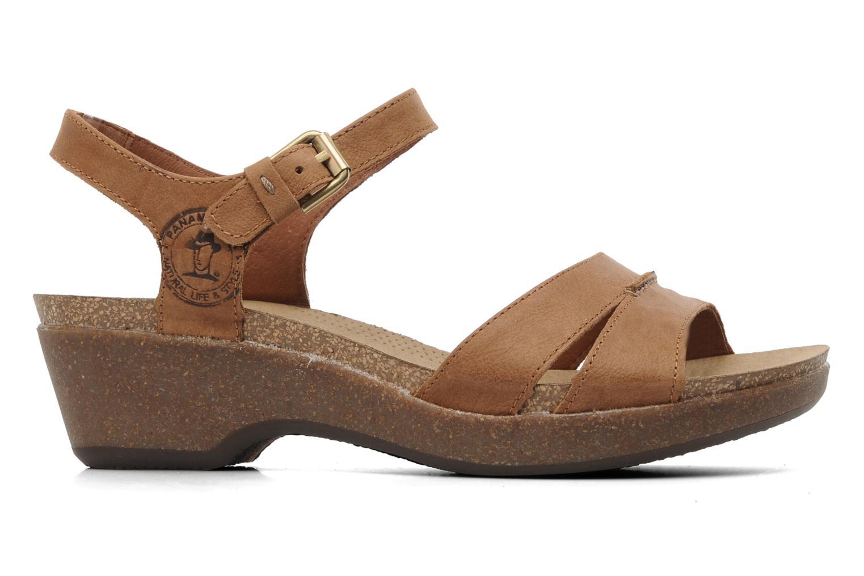 Sandales et nu-pieds Panama Jack Linda Marron vue derrière