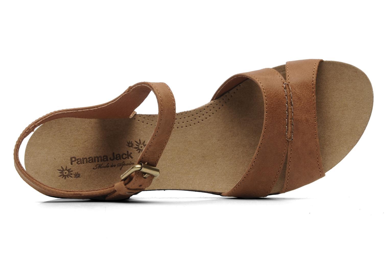 Sandales et nu-pieds Panama Jack Linda Marron vue gauche
