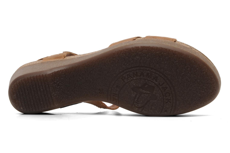 Sandales et nu-pieds Panama Jack Linda Marron vue haut