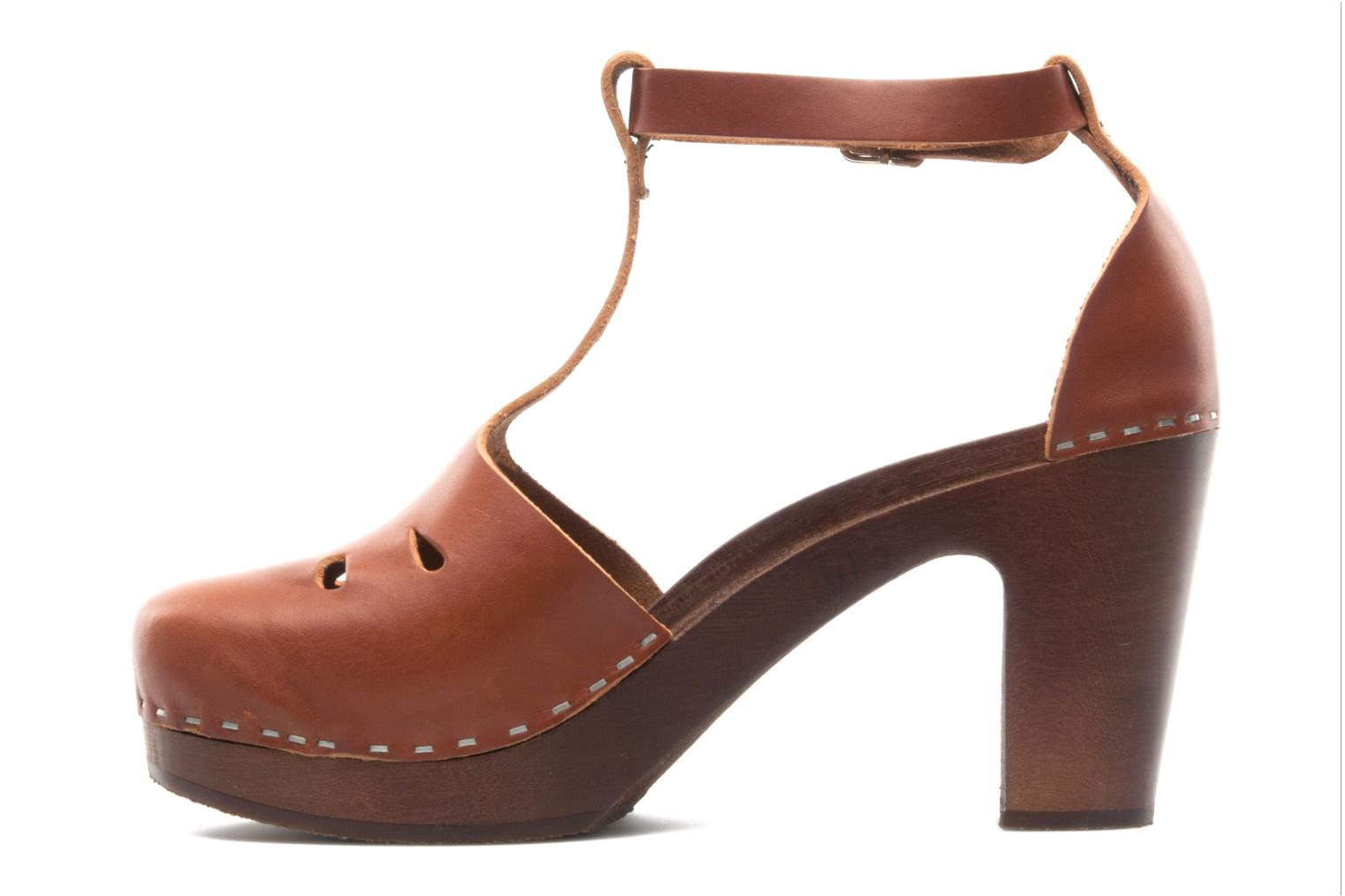 Mules & clogs Swedish Hasbeens T Bar Sandal Brown front view