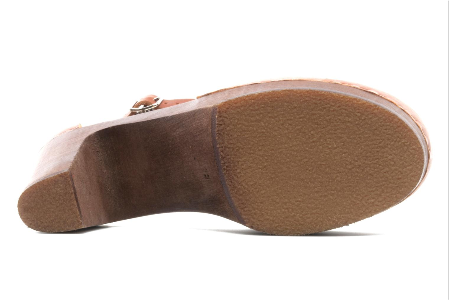 Mules & clogs Swedish Hasbeens T Bar Sandal Brown view from above