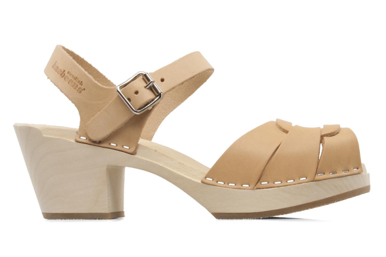 Sandales et nu-pieds Swedish Hasbeens Peep Toe High Colours Beige vue derrière