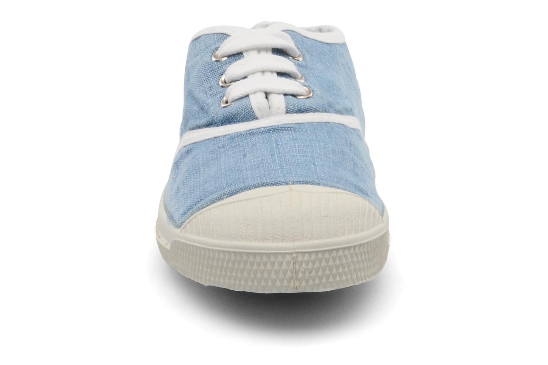 Baskets Bensimon Tennis Washed E Bleu vue portées chaussures
