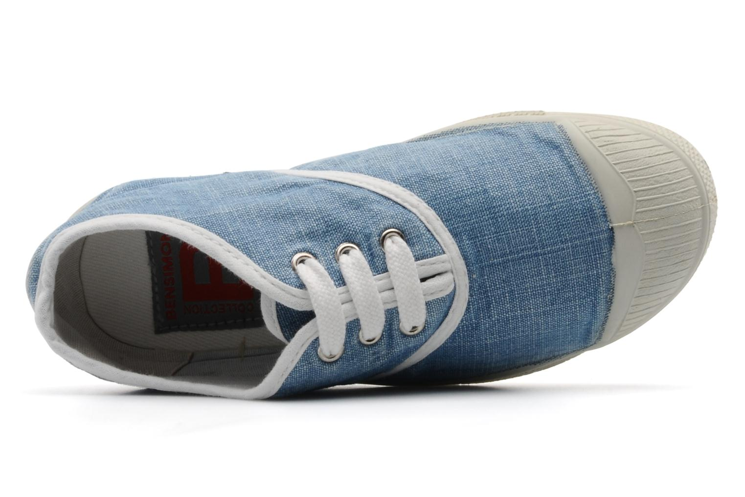 Sneakers Bensimon Tennis Washed E Blauw links