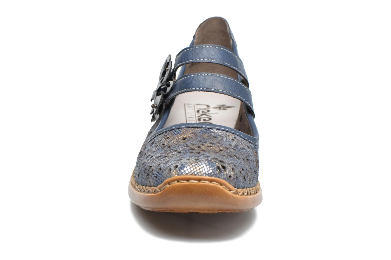 Ballerines Rieker Doris 41372 Bleu vue portées chaussures