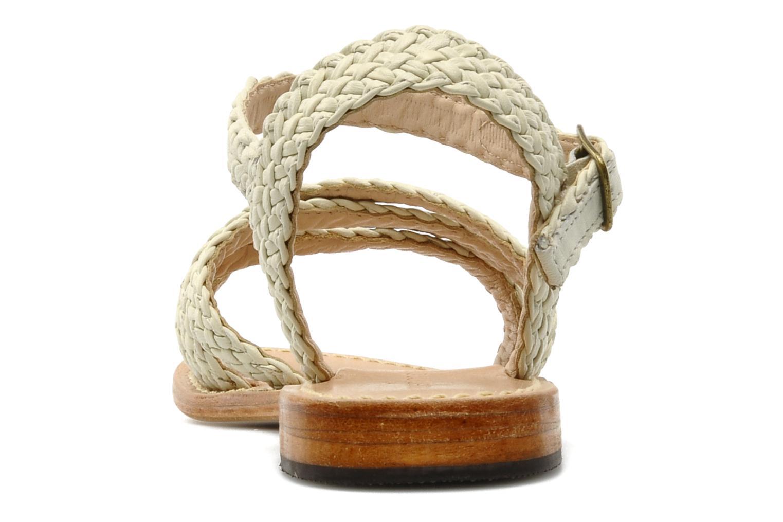 Sandales et nu-pieds Mellow Yellow Langlette Beige vue droite