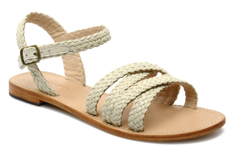Sandales et nu-pieds Mellow Yellow Langlette Beige vue détail/paire