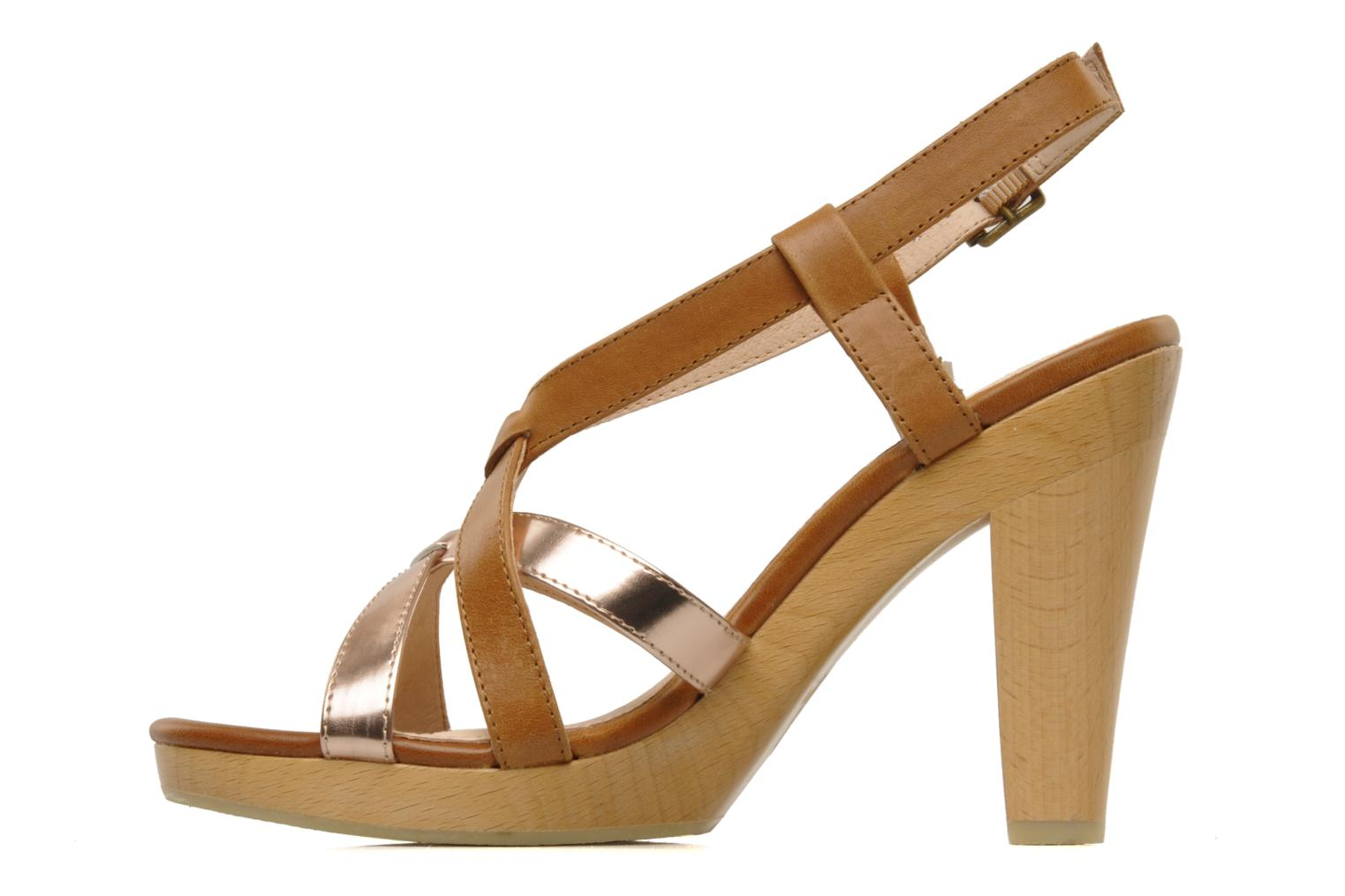 Sandals Mellow Yellow Lebon Brown front view