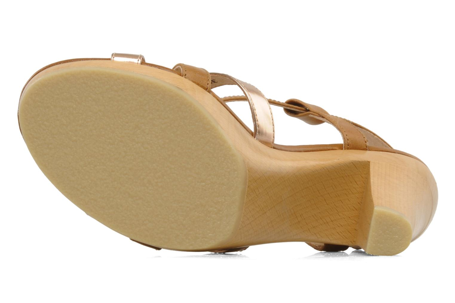 Sandals Mellow Yellow Lebon Brown view from above