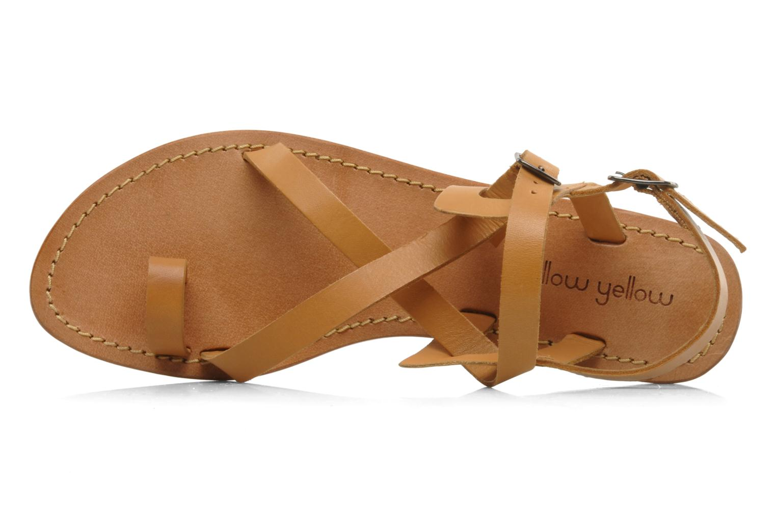 Sandals Mellow Yellow Lemporio Brown view from the left