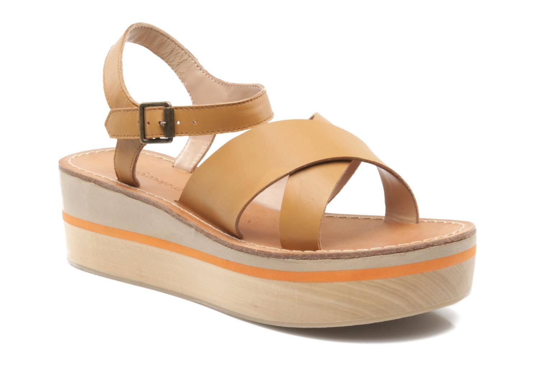 Sandales et nu-pieds Mellow Yellow Liraxan Marron vue détail/paire