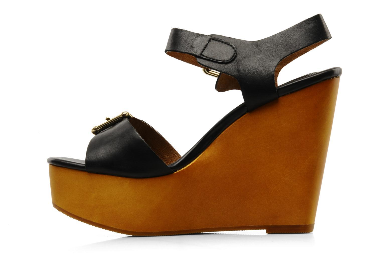 Sandales et nu-pieds Mellow Yellow Lupper Noir vue face