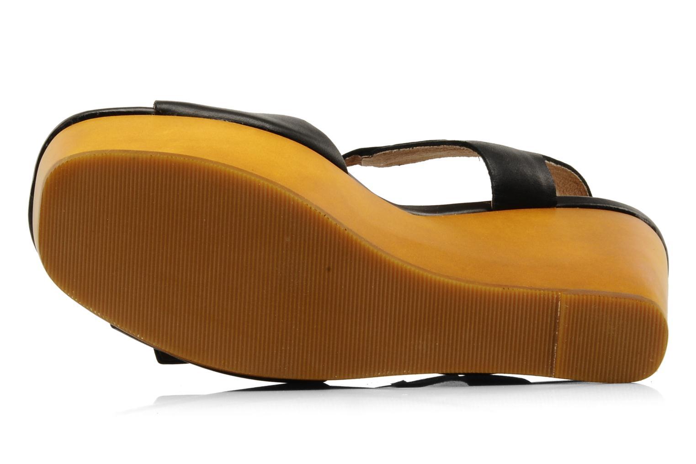 Sandales et nu-pieds Mellow Yellow Lupper Noir vue haut