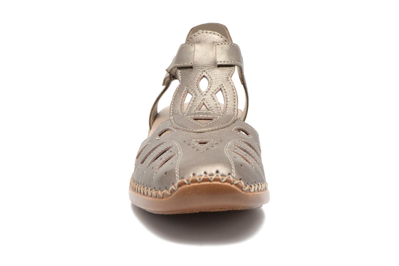Sandales et nu-pieds Remonte Doris d1603 Or et bronze vue portées chaussures