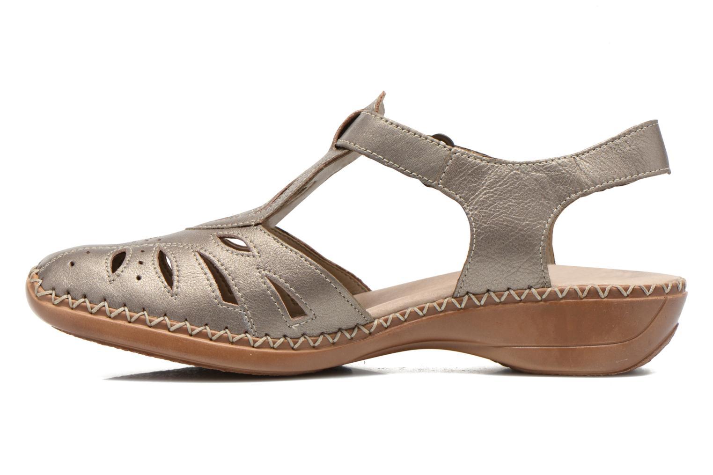 Sandales et nu-pieds Remonte Doris d1603 Or et bronze vue face