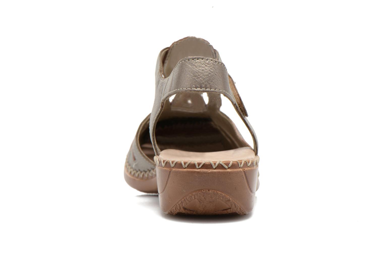 Sandales et nu-pieds Remonte Doris d1603 Or et bronze vue droite
