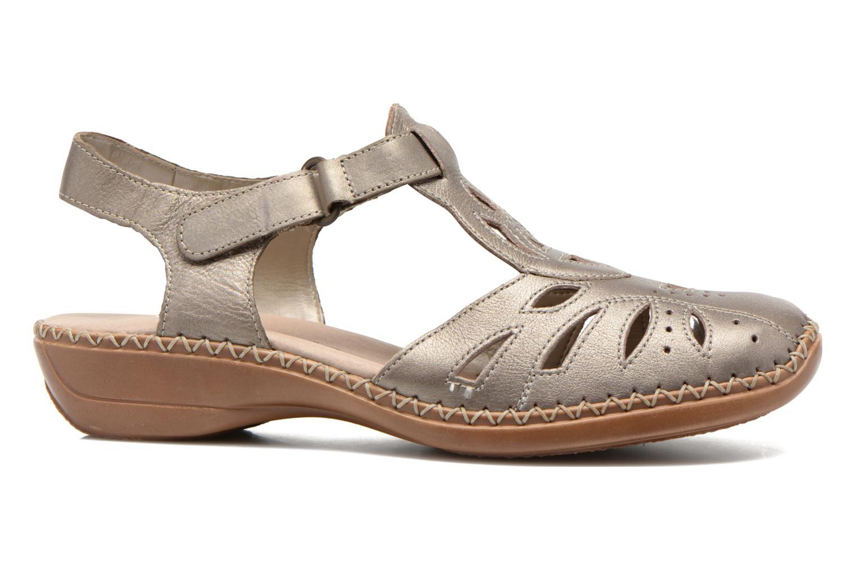 Sandales et nu-pieds Remonte Doris d1603 Or et bronze vue derrière