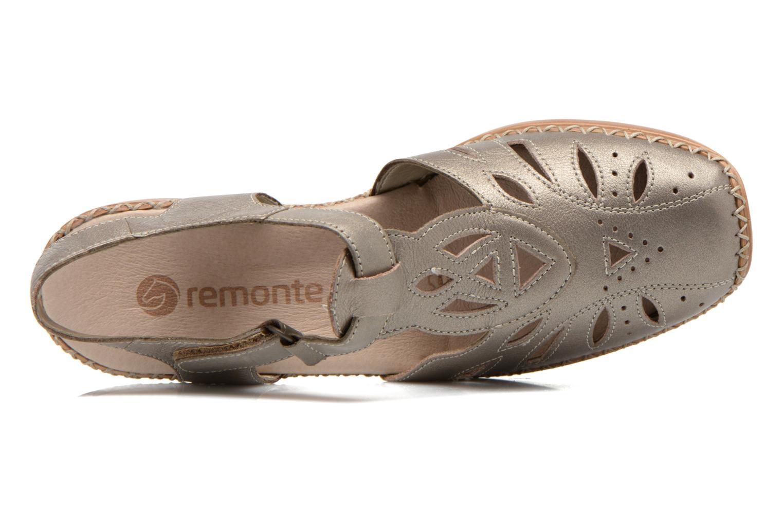 Sandales et nu-pieds Remonte Doris d1603 Or et bronze vue gauche