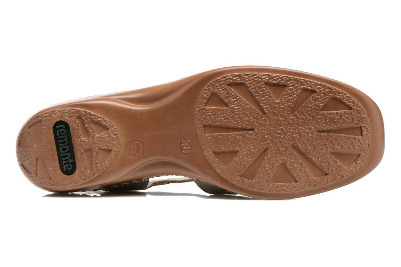 Sandales et nu-pieds Remonte Doris d1603 Or et bronze vue haut